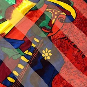 Vintage Picasso Silk Scarf - Paris France